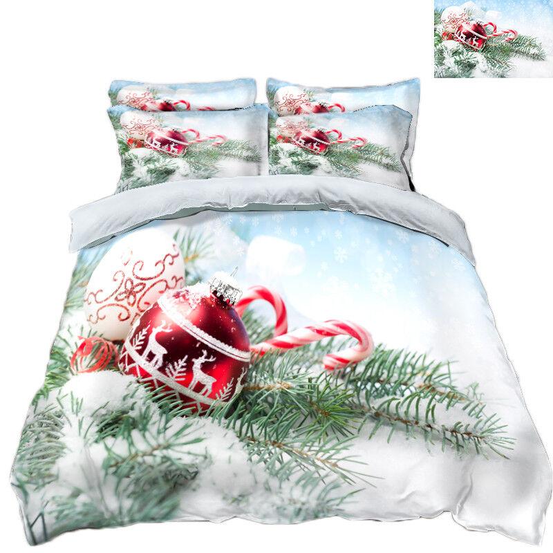 3D Christmas Xmas 485 Bett Pillowcases Quilt Duvet Startseite Set Single Königin König AU