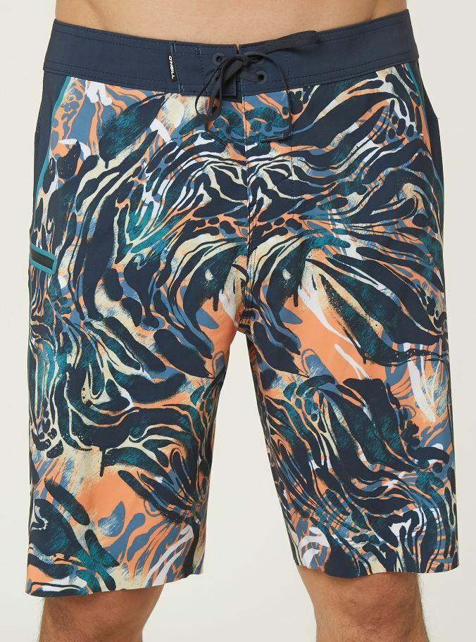O'Neill HYPERFREAK JORDY Mens Polyester Stretch Boardshorts 32 Midnight NEW