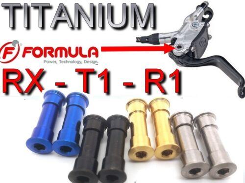 FORMULA R1 T1 RX: 2 Bremshebelbolzen aus TITAN für 2 Bremshebel 43/% leichter