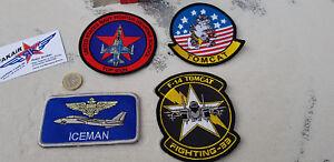 4er-SET-TOP-GUN-Maverick-ICEMAN-F-14-Avion-Aircraft-YakAir-NATO-RAF-USAF