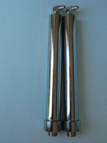 "Lowrider Hydraulics 6/"" chrome cylinders with two beauty chrome elbows FAT"