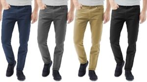 Mens-Chinos-Designer-Trousers-Stretch-Pants-Skinny-Slim-Fit-All-Sizes-Leg