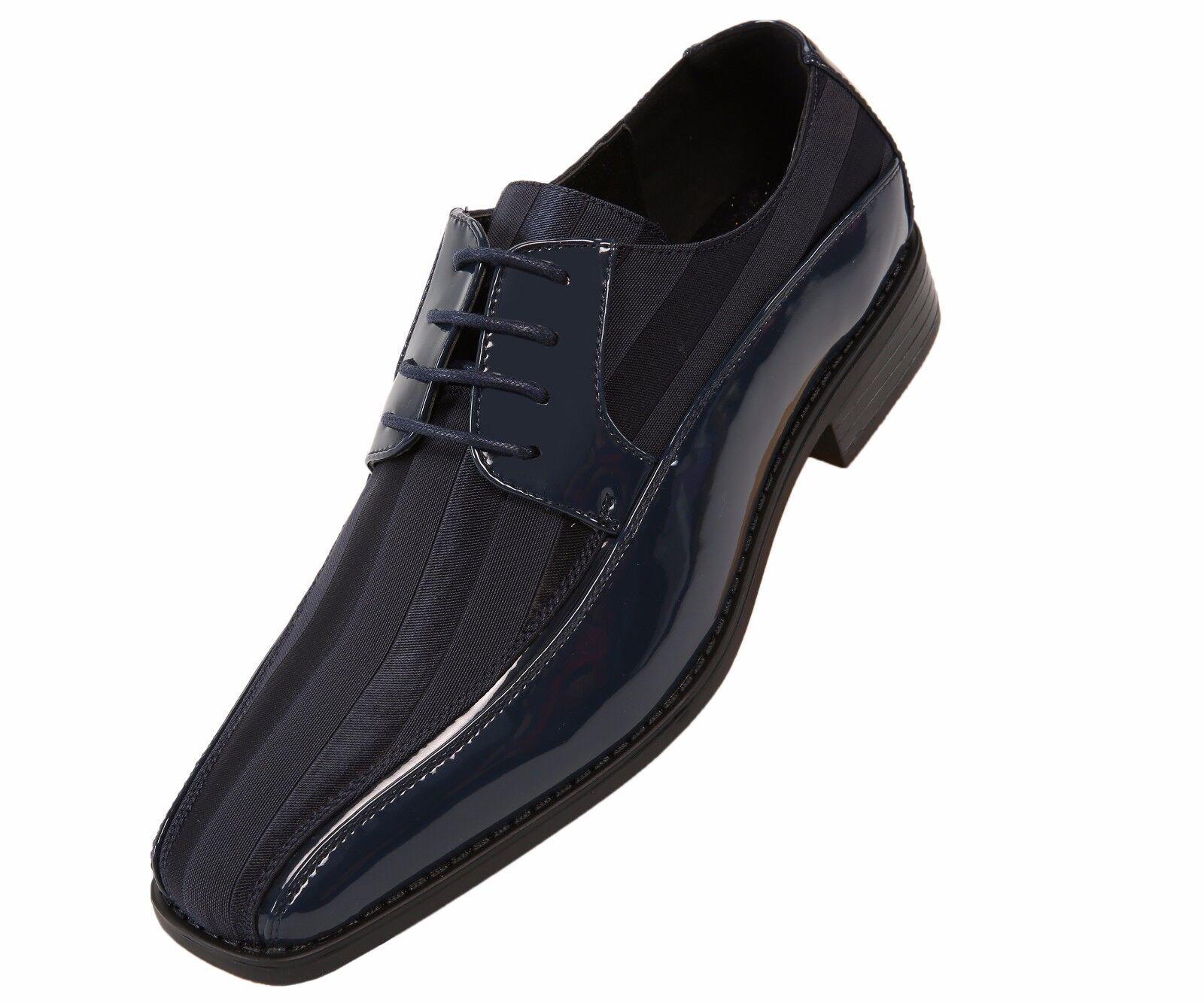 Viotti  Uomo Navy Patent Dress Oxford W/ 179-002 Striped Satin Schuhe Style 179-002 W/ dbedd7