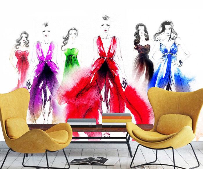 3D Farbe Mode Modell 7939 Tapete Wandgemälde Tapeten Bild Familie DE Lemon | Verbraucher zuerst  | Nicht so teuer  | Einfach zu bedienen