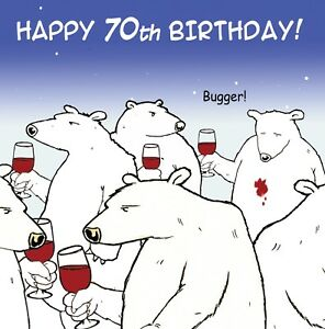 Image Is Loading Funny Birthday Card 70th Age 70