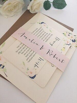 1 Vintage/Rustic Style 'Amelia' wedding invitation bundle stationery sample
