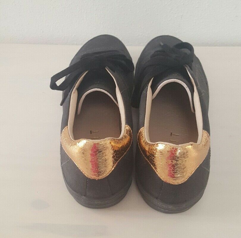 ESPRIT Damen Sneaker NEU Schuhe schwarz gold Gr.40 NEU Sneaker efaf62