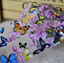 Nail Art Foil DIY Nail Decals Transfer Sticker Colorful Butterfly Flowers SY653