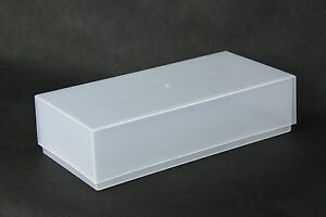 5-x-Plastic-Boxes-for-DL-COMPLIMENT-SLIPS-BUSINESS-CARD-STORAGE