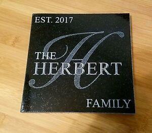 Trivet Hot Plate Personalized Trivets Custom Engraved Family Name - Custom photo trivet