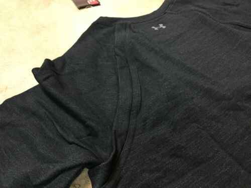 NEW womens under armour thermal sweatshirt black crewneck $80 MSRP loose 9
