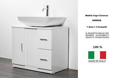 Sottocolonna 1 Anta 2 Cassetti Mobile Bagno Copri Colonna Lavandino Standard Ebay