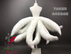 Hot Sale Legends LOL Ahri Nine-Tailed Cosplay fox Tails prop Halloween dress up