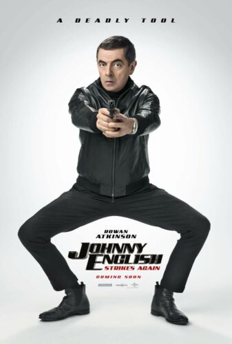 """Johnny English Strikes Again Mr Bean Movie Poster Silk Print 13x20/"""" 20x30/"""" 24x36"""