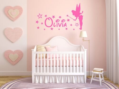 Personalised Name and Magical Fairy Wall Sticker For Girls Bedroom Wall Art AG17