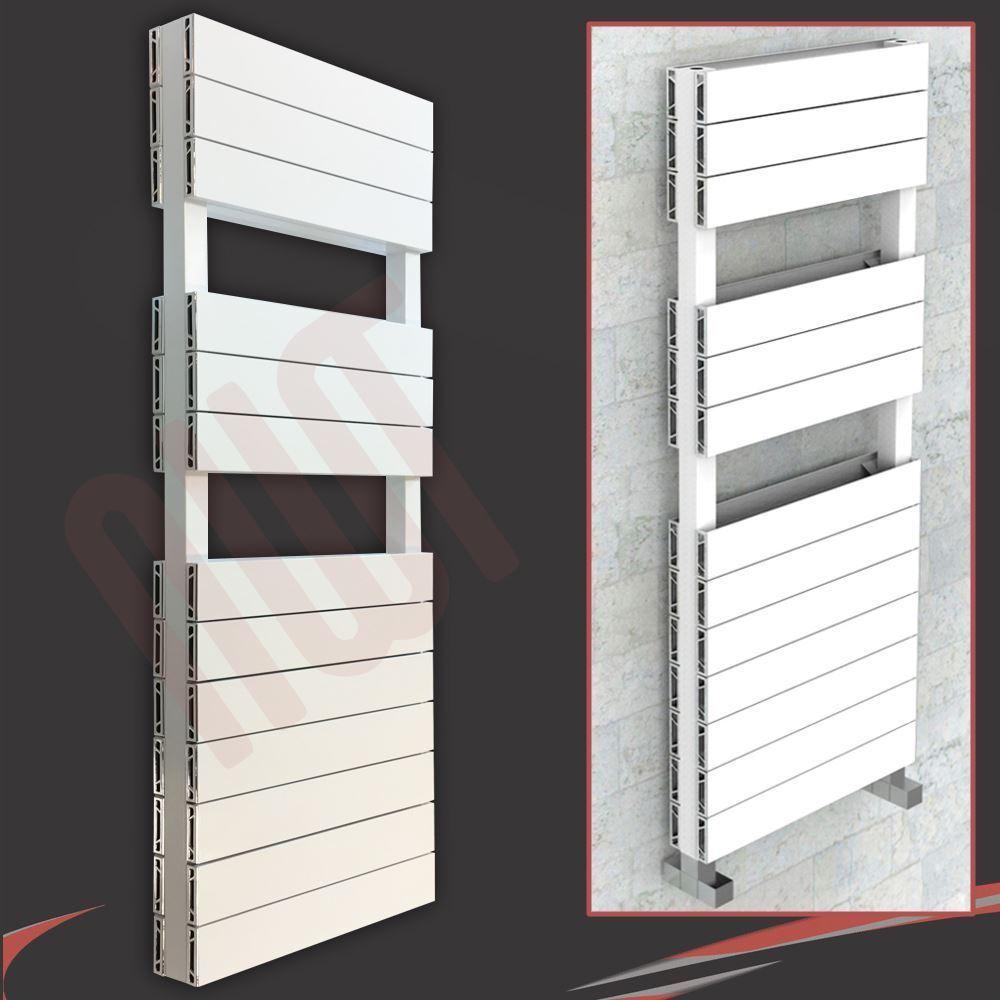 500 mm (W) x 1500 mm (H)  Flow DOUBLE BLANC  en aluminium Porte-serviettes (6214 BTU)