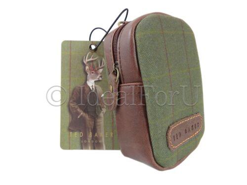 Ted Baker New Wild /& Wolf Stag Cámara Digital Gadget Funda Verde Tweed marrón