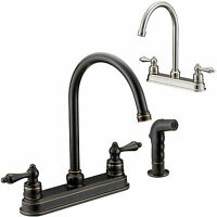 Designers Impressions Kitchen Faucet With Matching Side Spray - 2 Finish Choices