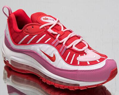 Nike Air Max 98 Mujer Chándal Rojo Rosa Blanco Informal Lifestyle Zapatillas | eBay