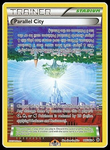 POKEMON XY BREAK THROUGH 145//162 PARALLEL CITY