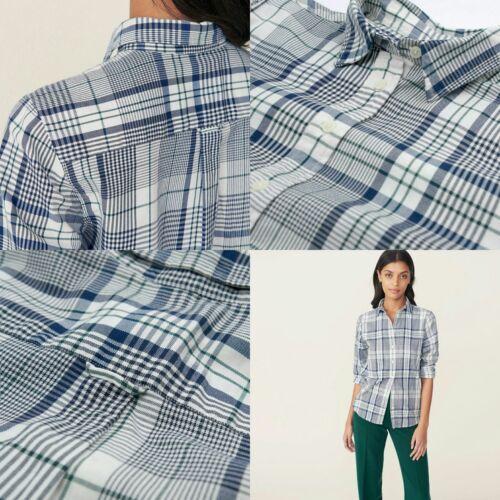 Nouveau Gant Coquille Shirt Womens Flanelle uf D' Ajust Tartan Button r4HrqT