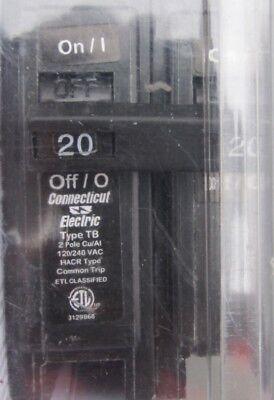 NEW Electric UBI-TB220C 20A 20-Amp 2-Pole 120//240VAC Circuit Breaker T