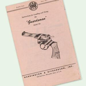 H&R GUARDSMAN 732 INSTRUCTIONS PARTS OWNERS GUN MANUAL MAINTENANCE