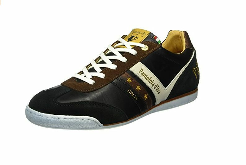 Uomo Pantofola d'ORO VASTO Basse Sportive Scarpe Sportive Basse Nere bf034a