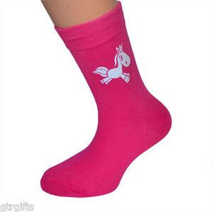 Lindo Diseño De Unicornio Para Niños Calcetines-se adapte Niño O Niña Niños Calcetines