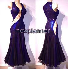 Women Ballroom Tango Waltz Smooth Standard Dance Dress US 8 UK 10 Dark Blue