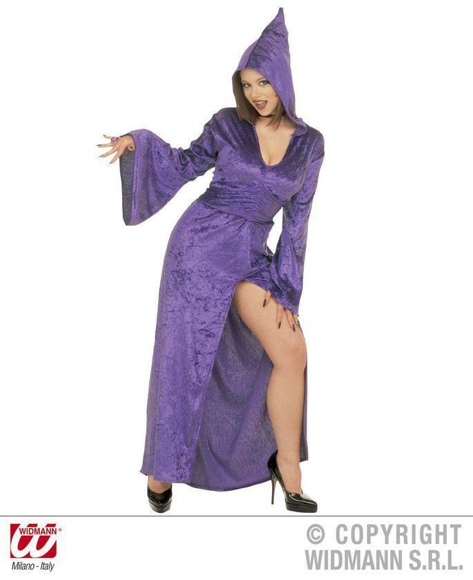 Audacieux Gothique Tentatrice Velours Violet Extra Large Adulte Femmes Costume Robe Fantaisie Circulation Sanguine Tonifiante Et Douleurs D'ArrêT