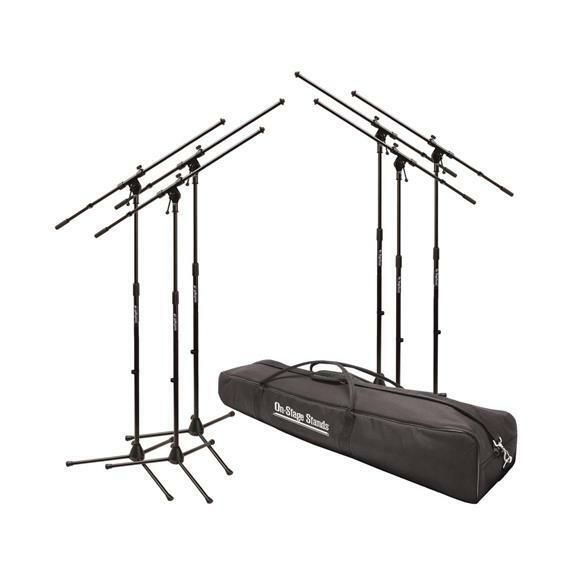 Bag On-Stage Stands  MS7701B Euro Boom Mic Stand Package Includes 6 Mic Stands