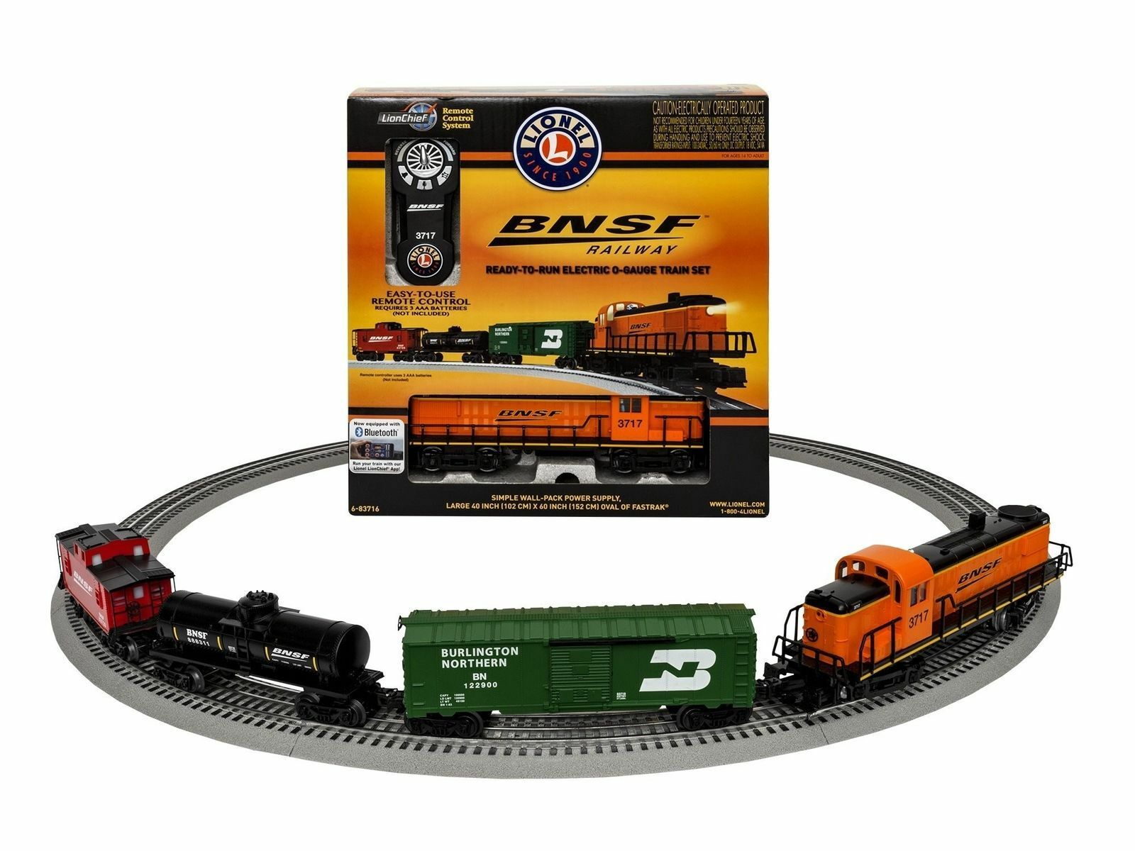 Lionel 83716 BNSF RS-3 Freight Set with bluee Tooth Train Set New GREAT PRICE