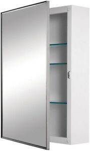 Image Is Loading Jensen Bathroom Mirror Medicine Cabinet Surface Mount Polished