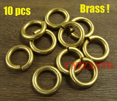20pcs 2 x 12mm Solid brass jump rings Connectors for Craft Fob wallet chain