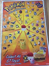 1999 Vintage Burger King Pokemon Promo Poster Rare Fiind. Pikachu And The Gang