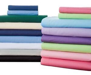 300TC Ultra Soft Designer 3PC Duvet Cover Set Solid Choose Size/Color 100%Cotton