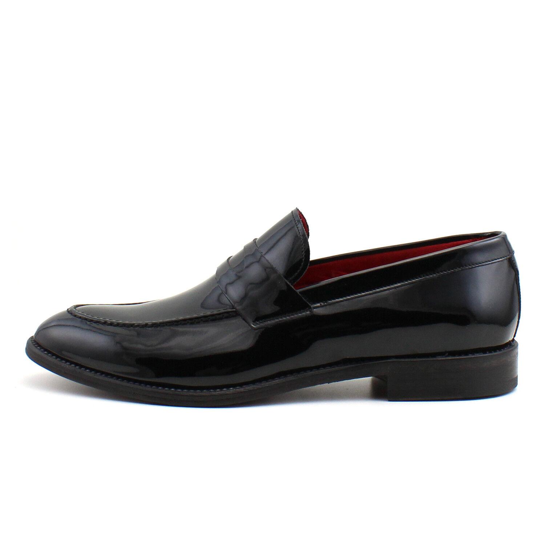 designer online Uomo mocassin mocassin mocassin nero leather scarpe handmade Italian elegant GIORGIO REA 7592NE  sconto di vendita