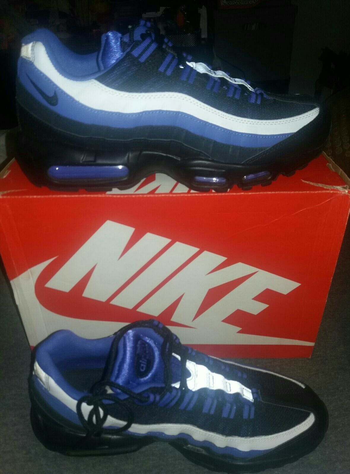 Nike Air Max 95 Running Trainers Trainers Trainers scarpe 3M Performance Athletic scarpe da ginnastica blu 9.5 7fc13f