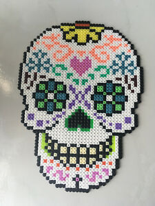 Détails Sur Pixel Art Perles A Repasser Tete De Mort 2