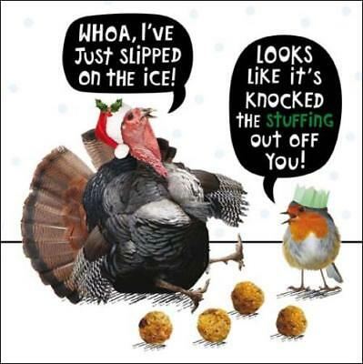 Turkey Stuffing Funny Crackerjack Christmas Card Animal Humour Xmas Cards