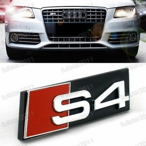 Details about NEW BLACK AUDI S4 GRILL BADGE 3D ABS SLINE Front Racing Grill  Grille Emblem