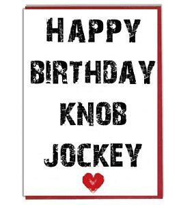 Twat Funny Rude Joke Birthday Card For Husband Boyfriend Mate Boss Brother