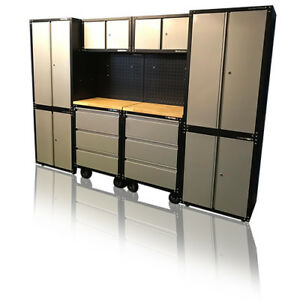 Details About 442 Us Pro Tools 12pc Garage Storage System Tool Box Cabinet Steel Cupboard