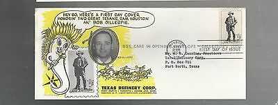 US FDC FIRST DAY COVERS # 1242 SAM HOUSTON 1964  BY TEXAS REFINERY CORP