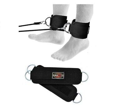 Maxx Ankle Twin D-ring Strap Multi Gym Cable Attachment Leg Thigh Liftin Pulley Zu Hohes Ansehen Zu Hause Und Im Ausland GenießEn
