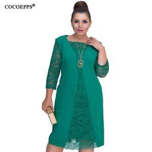 Vestido Tallas Grandes Para Mujer Vestidos De Verano Encaje Para Damas Senoras Ebay