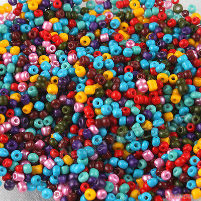 3000pcs Wholesale Mixed Colorful Glass Mini Seed Beads Fit Jewelry Making 2mm LC