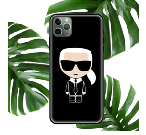 COQUE IPHONE ETUI SILICONE IPHONE 7 8 11 12 IPHONE X XS XR 11PRO (NOIR) KARL 1