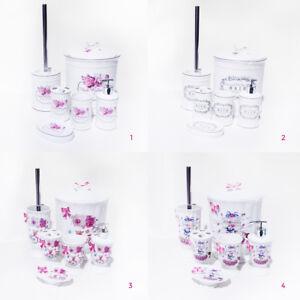Details zu 5-6tlg Badset Badgarnitur Badezimmer Wc Garnitur Set Schiefer  Seifenspender neu